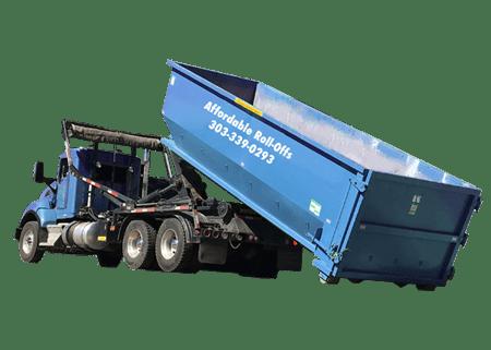 Affordable Dumpster Rentals - Blue roll-off dumpster